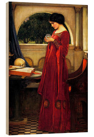 Madera  La bola de cristal - John William Waterhouse