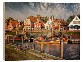 Cuadro de madera  Trawler in the fishing port Greetsiel - Peter Roder