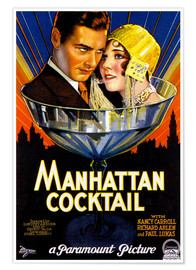 Póster Manhattan Cocktail