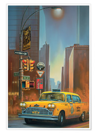 Póster  Yellow Cab - Georg Huber