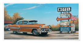 Póster American West Motel Route