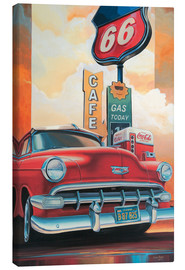Lienzo  Route 66 Cafe - Georg Huber