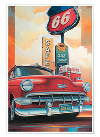 Póster  Route 66 Cafe - Georg Huber