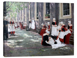 Lienzo  Orphanage in Amsterdam - Max Liebermann