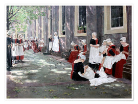 Póster  Orphanage in Amsterdam - Max Liebermann
