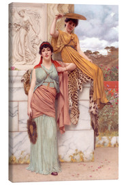 Lienzo  Waiting for the procession - John William Godward