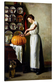 Cuadro de aluminio  Carving the pumpkin - Franck Antoine Bail