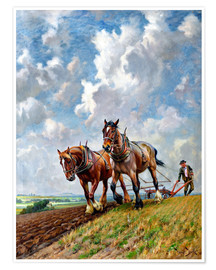 Póster Ploughing the Fields