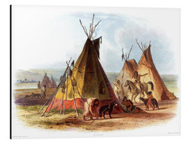 Cuadro de aluminio  Camp of Native Americans - Karl Bodmer