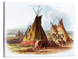 Lienzo  Camp of Native Americans