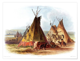 Póster  Camp of Native Americans
