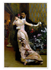 Póster  At the end of the ball - Rogelio de Egusquiza