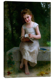 Lienzo  The Reader - William Adolphe Bouguereau