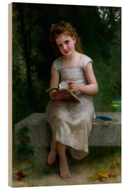 Cuadro de madera  The Reader - William Adolphe Bouguereau