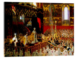 Cuadro de metacrilato  Coronation of Nicholas II. And Alexandra Fjdorownas - Laurits Regner Tuxen