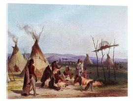 Metacrilato  Camp of Native Americans - Karl Bodmer