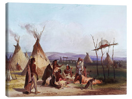 Lienzo  Camp of Native Americans - Karl Bodmer