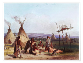 Póster  Camp of Native Americans - Karl Bodmer