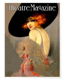 Póster Theatre Magazine Vintage Fashion