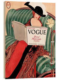 Cuadro de madera  Vogue vintage - Advertising Collection