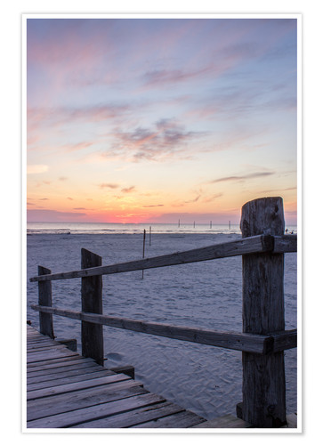 Póster Jetty into the sea from St Peter Ording