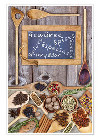 Póster Spices in different languages