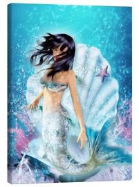 Lienzo  Mermaid Fenja - Dolphins DreamDesign
