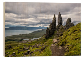 Cuadro de madera  Old Man of Storr, Isle of Skye, Scotland - Walter Quirtmair