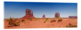 Cuadro de metacrilato  Monument Valley USA Panorama I - Melanie Viola