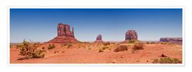 Póster  Monument Valley USA Panorama I - Melanie Viola
