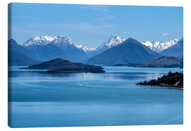 Lienzo  Lake Wakatipu, View direction Glenorchy (New Zealand) - Christian Müringer