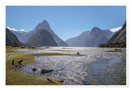 Póster  Milford Sound and Mitre Peak (New Zealand) - Christian Müringer