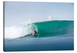 Lienzo  Surfer in paradise - big green surfing wave - Paul Kennedy