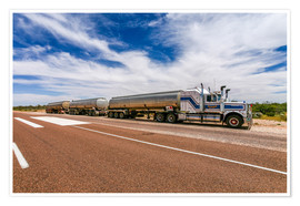 Póster  Road Train Australia - Thomas Hagenau