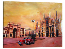 Lienzo  Milan Cathedral with Oldtimer Convertible Alfa Romeo - M. Bleichner