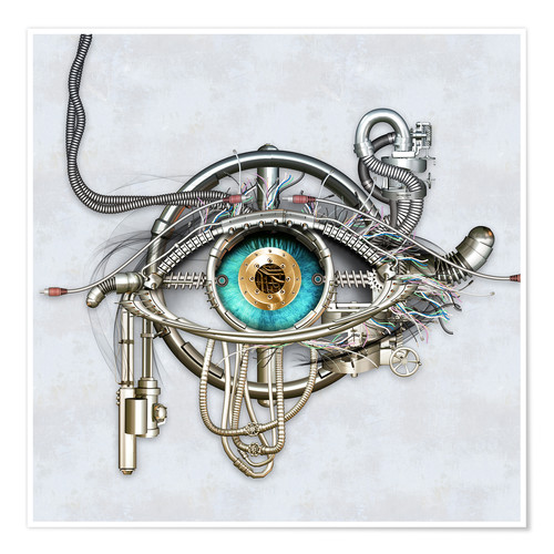 Póster Mechanical eye