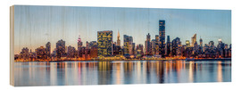 Cuadro de madera  New York - Midtown Manhattan Skyline - Sascha Kilmer