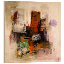 Cuadro de madera  Abstract painting on canvas - modern and contemporary - Michael artefacti