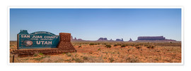 Póster Monument Valley USA Panorama III