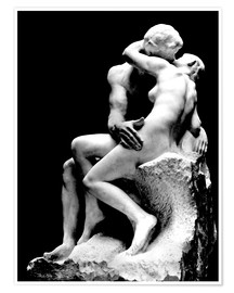 Póster  El beso - Auguste Rodin
