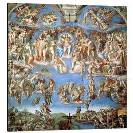 Aluminio-Dibond  The Last Judgement - Michelangelo