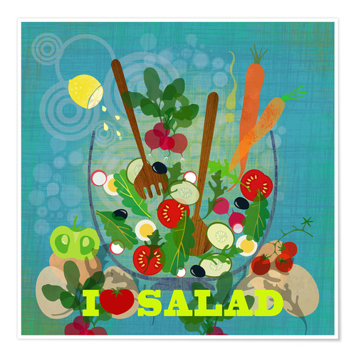 Póster I love Salad