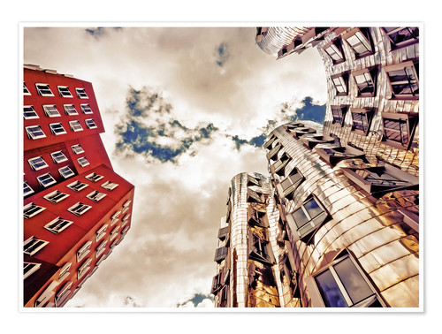 Póster Gehry Duesseldorf   05 (variant)