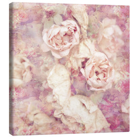 Lienzo  Faded roses - INA FineArt