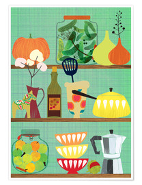 Póster  kitchen shelf 02 - Elisandra Sevenstar