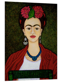 Forex  Frida Kahlo portrait with dalias - Madalena Lobao-Tello