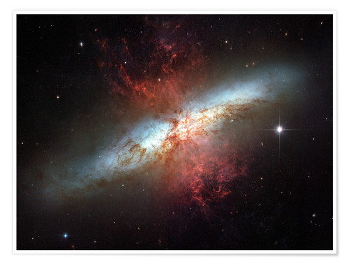 Póster Starburst galaxy, Messier 82