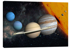 Lienzo  Planets and moons - Ron Miller
