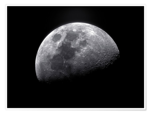 Póster Waxing gibbous moon