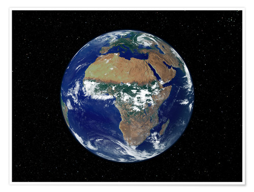Póster Earth - Africa and Europe